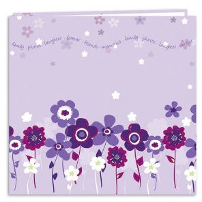 Pioneer - EZ Load Memory Album - 12 x 12 - 20 Top Loading Pages - En Vogue Designer - Lavender Bloom