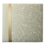 Pioneer - EZ Load Memory Album - 12 x 12 - 20 Top Loading Pages - Embroidered Scroll Fabric Ribbon - Ivory