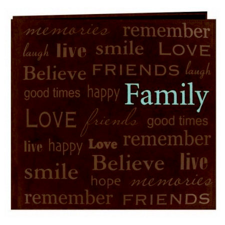 Pioneer - EZ Load Memory Album - 12 x 12 - 20 Top Loading Pages - Text Sewn Faux Suede - Family