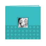 Pioneer - EZ Load Memory Album - 12 x 12 - 20 Top Loading Pages - Embossed Leatherette Frame - Circles - Aqua