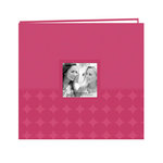 Pioneer - EZ Load Memory Album - 12 x 12 - 20 Top Loading Pages - Embossed Leatherette Frame - Circles - Dark Pink