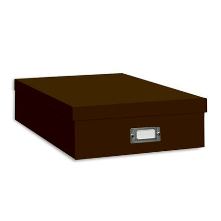 "Pioneer - 12"" x 12"" Scrapbooking Storage Box - Dark Brown"
