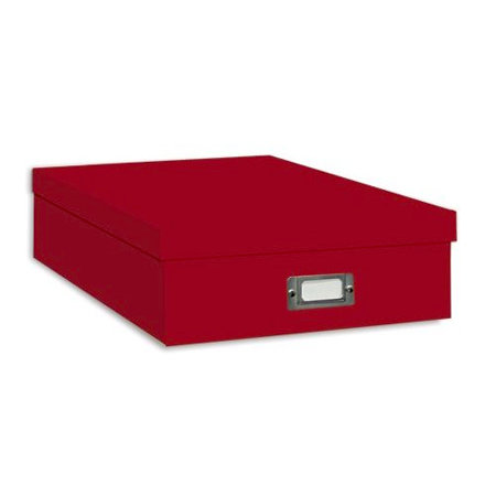 "Pioneer - 12"" x 12"" Scrapbooking Storage Box - Bright Red"