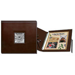 Pioneer - 12x12 Sewn Scrapbook Box - Stitched - Brown