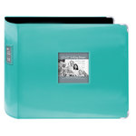 Pioneer - D-Ring Binder - 12 x 12 Sewn Leatherette Cover with Metal Corners - Bright Blue