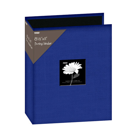 Pioneer - 3 Ring Binder - 8.5 x 11 - Cloth Scrapbook - Blue