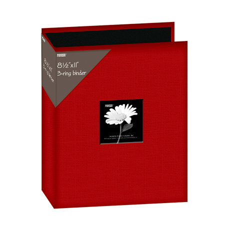 Pioneer - 3 Ring Binder - 8.5 x 11 - Cloth Scrapbook - Red