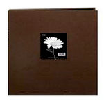 Pioneer - 3 Ring Binder - 12 x 12 Cloth Scrapbook - Brown