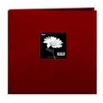 Pioneer - 3 Ring Binder - 12 x 12 Cloth Scrapbook - Red