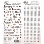 Paper Accents - Stickers - Calendar Month and Numbers - Medium - Black