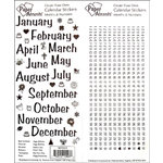 Paper Accents - Stickers - Calendar Month and Numbers - Large - Black
