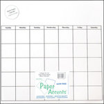 Paper Accents - 12 x 12 Calendar - Clear Plastic