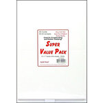 Paper Accents - Super Value Card and Envelope Pack - 5 x 7 - White