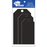 Paper Accents - Craft Tags - Assorted Sizes - Chipboard Black
