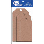 Paper Accents - Craft Tags - Assorted Sizes - Brown Bag