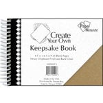 Paper Accents - Create Your Own Keepsake Book - 4.5 x 6.5 - Chipboard Cover