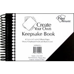 Paper Accents - Create Your Own Keepsake Book - 4.5 x 6.5 - Black Cover