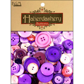 Buttons Galore - Haberdashery Buttons - Classic Purples