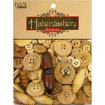 Buttons Galore - Haberdashery Buttons - Classic Wood
