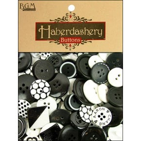 Buttons Galore - Haberdashery Buttons - Classic Black and White