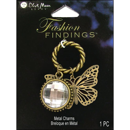 Blue Moon Beads - Fashion Findings - Metal Jewelry Charm - Ring Butterfly - Ox Brass
