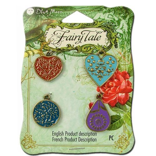 Blue Moon Beads - Fairy Tale - Metal Jewelry Charm - Enamel Assortment 1 - Ox Brass