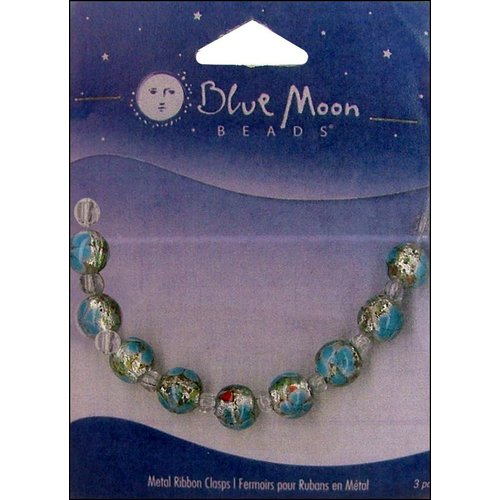 Blue Moon Beads - Art Glass - Jewelry Beads - Round - Swirl - Multi 4