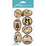 EK Success - Jolee's Boutique Le Grande - 3 Dimensional Stickers - Wooden Silhouette Wedding Icons