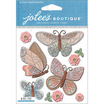 EK Success - Jolee's Boutique - 3 Dimensional Stickers - Beautiful Butterflies