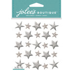 EK Success - Jolee's Boutique - 3 Dimensional Stickers - Repeat Stars Silver
