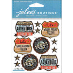 EK Success - Jolee's Boutique - 3 Dimensional Stickers - Repeat Travel Badges