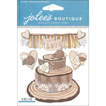 EK Success - Jolee's Boutique - 3 Dimensional Stickers - Shimmery Wedding Cake