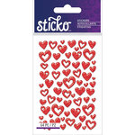 EK Success - Sticko - Epoxy Stickers - Mini - Hearts Red
