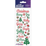 EK Success - Sticko - Epoxy Stickers - Christmas - Words and Icons