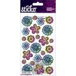 EK Success - Sticko - Stickers - Doodle Flowers