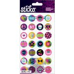 EK Success - Sticko - Stickers - Words and Icon - Circles - Girly