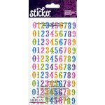 EK Success - Sticko - Stickers - Bright Glitter Numbers