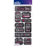 EK Success - Sticko - Chalkboard Stickers - Words - I Love You