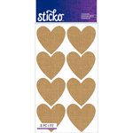 EK Success - Sticko - Stickers - Burlap Labels - Heart