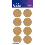 EK Success - Sticko - Stickers - Burlap Labels - Circle