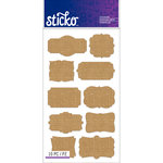 EK Success - Sticko - Stickers - Burlap Labels - Frame
