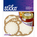 EK Success - Sticko - Stickers - Burlap Labels - Mason Jar