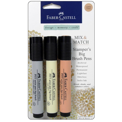 Faber-Castell - Mix and Match Collection - Stampers Big Brush Pens - Subtle - 3 Piece Set