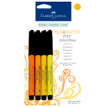 Faber-Castell - Mix and Match Collection - Pitt Artist Pens - Yellow - 4 Piece Set