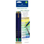 Faber-Castell - Mix and Match Collection - Art Grip Watercolor Pencils - Green - 9 Piece Set
