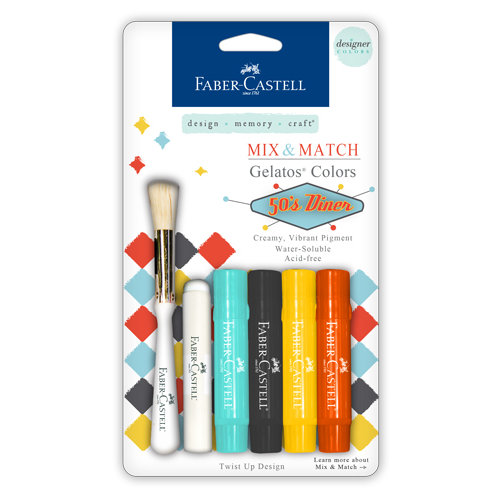 Faber-Castell - Mix and Match Collection - Color Gelatos - 50's Diner - 4 Piece Set
