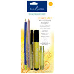 Faber-Castell - Mix and Match Collection - Mixed Media Sampler - Yellow - 5 Piece Set