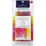 Faber-Castell - Mix and Match Collection - Paper Crafter Crayons - Red and Yellow - 8 Piece Set