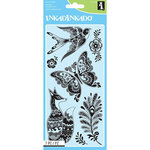 Inkadinkado - Clear Acrylic Stamps - Fancy Fauna
