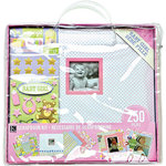 K and Company - 12 x 12 Scrapbook Kit - Baby Girl